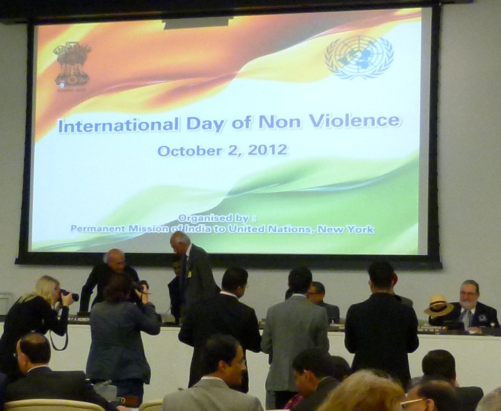 UN International Day of Non-Violence, with Keynote Address by Ambassador P.A. Nazareth, 2 October 2012