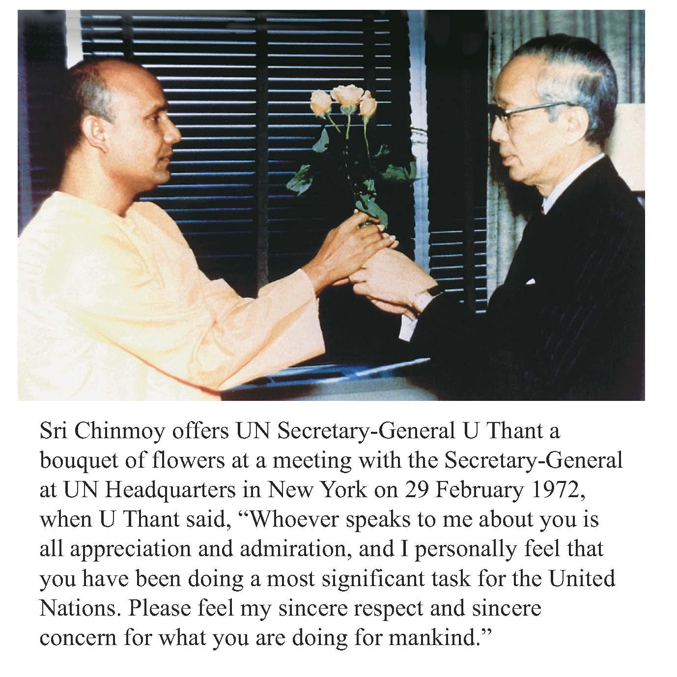 U Thant and Sri Chinmoy