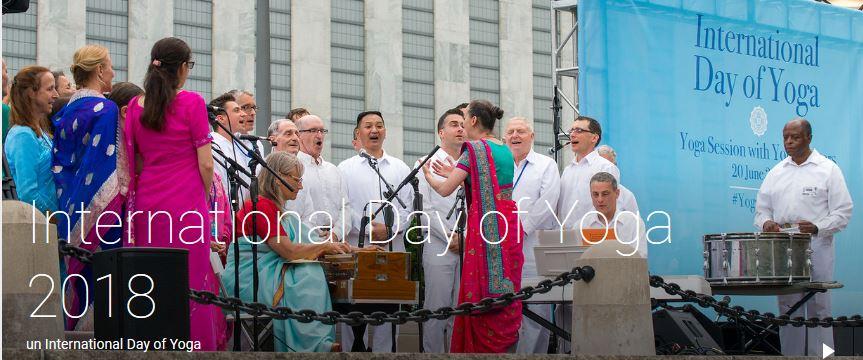 UN International Day of Yoga, 20 June 2018