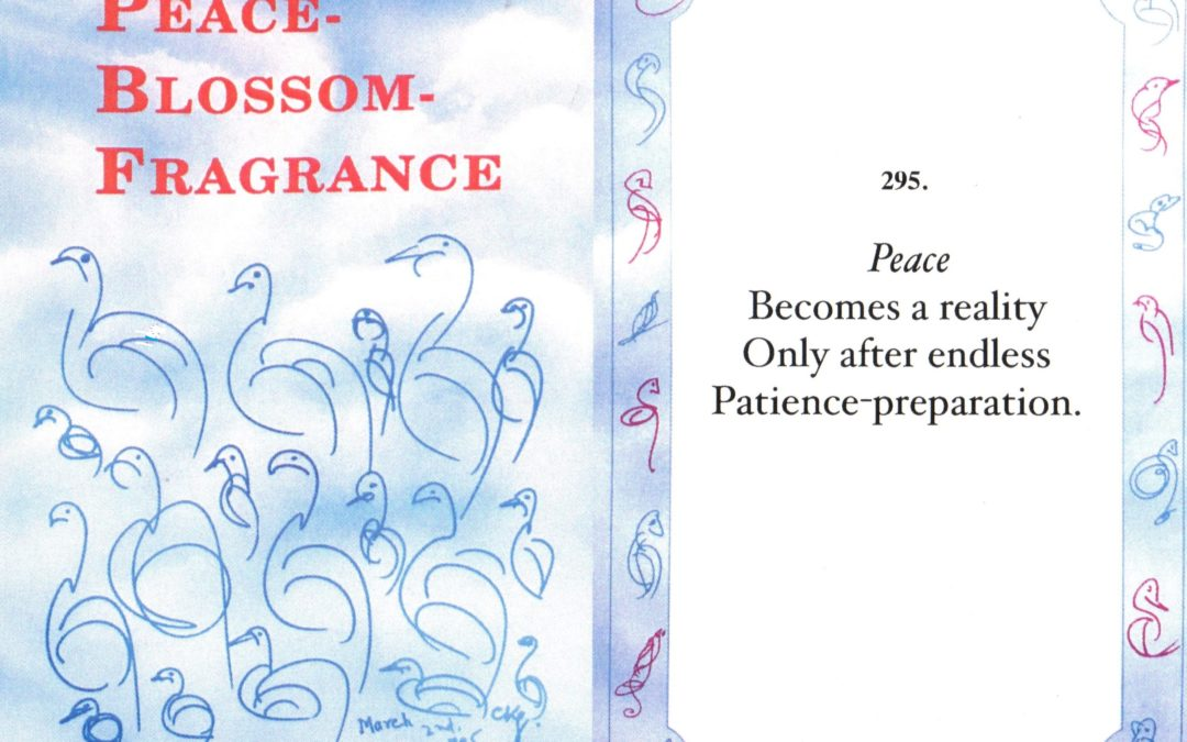 """25th Anniversary of """"Peace-Blossom-Fragrance"""" – Selected Poems on Peace"""